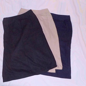 3 Claude Wrap Around Wool Skirts